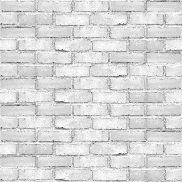 Papel de Parede Tijolo Rústico Branco  - TaColado