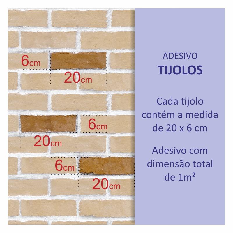 Revestimento Adesivo Tijolo Grafite  - TaColado