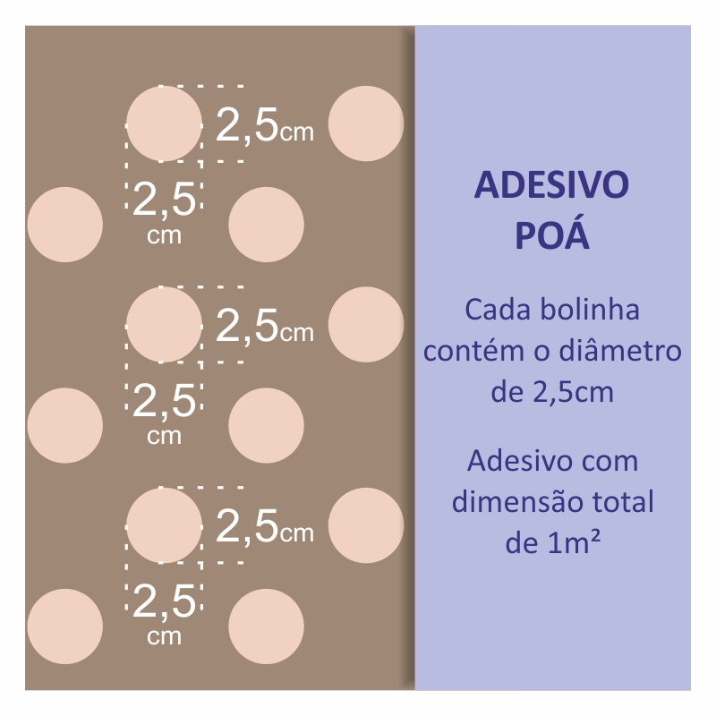 Papel de Parede Poá Roxo  - TaColado