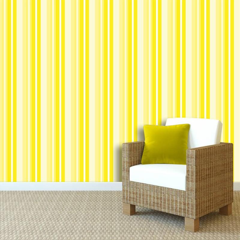 Papel de Parede Listras Rápidas Amarelo