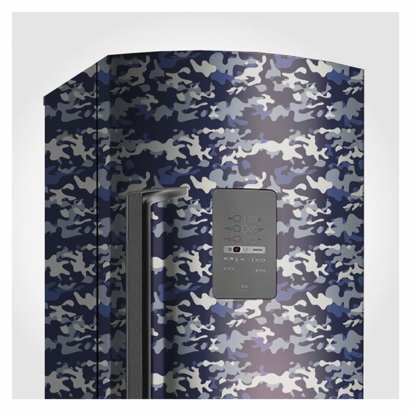 Papel de Parede Camuflado Azul Naval