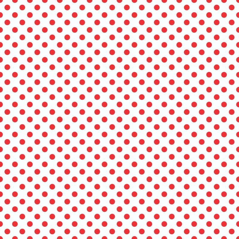 Papel de Parede Poá Vermelho  - TaColado