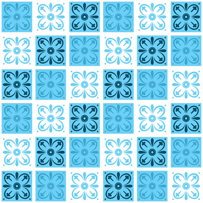 Revestimento Adesivo Azulejo Tortosa Azul  - TaColado