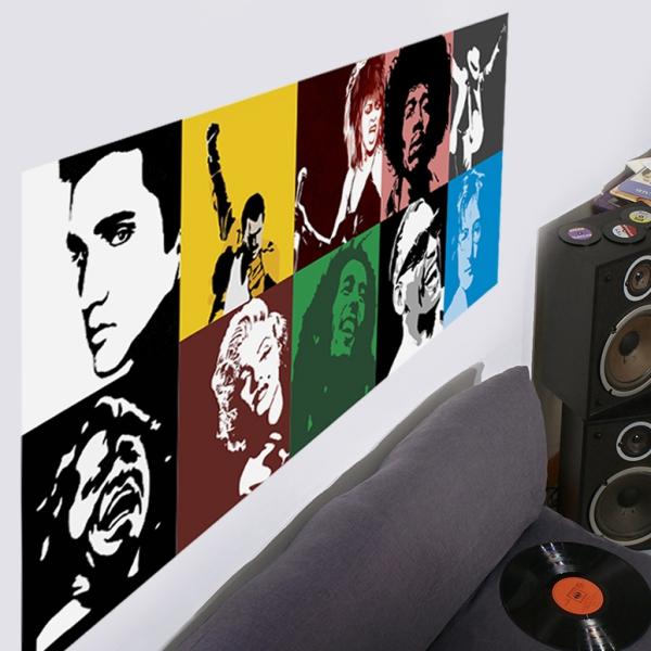 Adesivo Destacável Pop Art Música 01  - TaColado