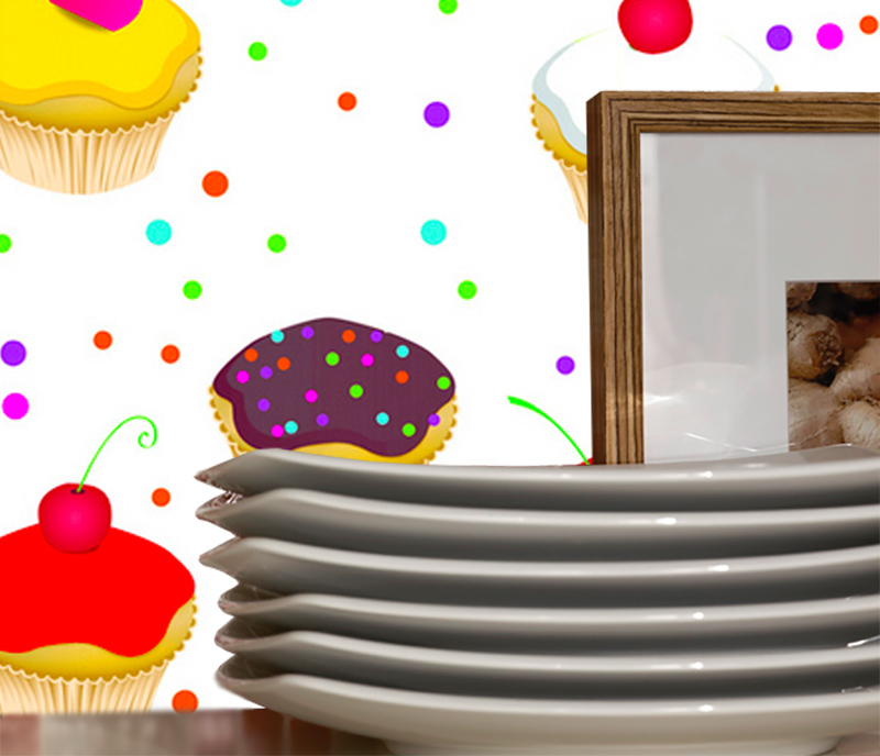 Adesivo Decorativo Cupcakes  - TaColado