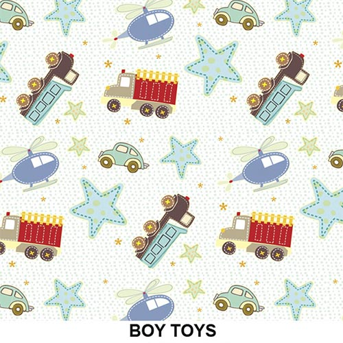 Tecido Adesivo Decorativo Boy Toys  - TaColado