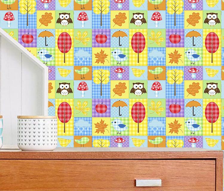 Tecido Adesivo Decorativo Patchwork Infantil