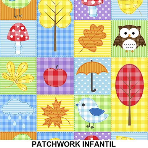 Tecido Adesivo Decorativo Patchwork Infantil  - TaColado