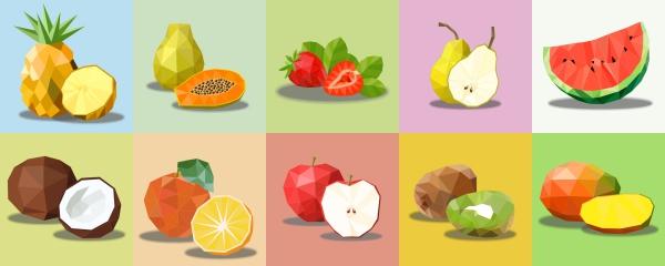 Adesivo Destacável Pop Art Frutas 01
