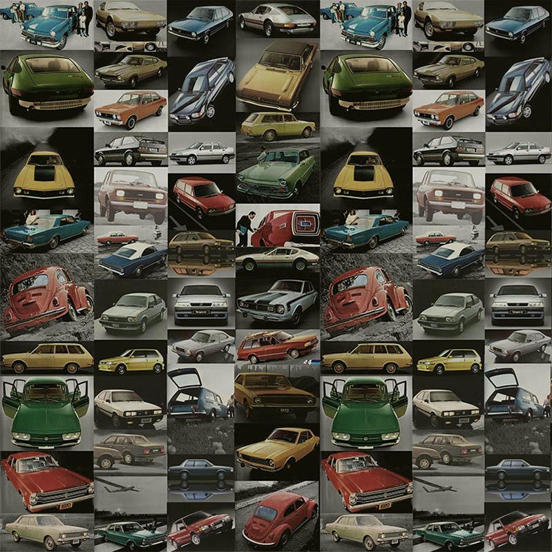 Papel de Parede Adesivo Carros Inesquecíveis do Brasil Vintage  - TaColado