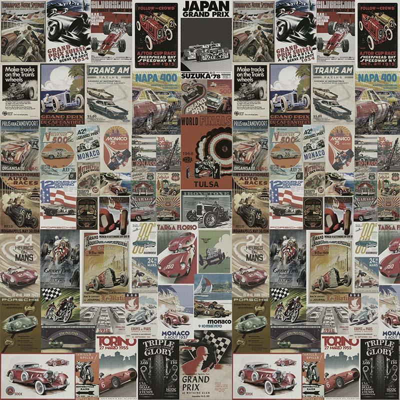 Papel de Parede Adesivo Racing Vintage  - TaColado
