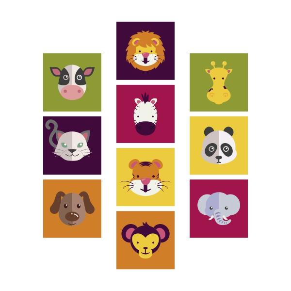 Adesivo Destacável Animais Infantil 01  - TaColado