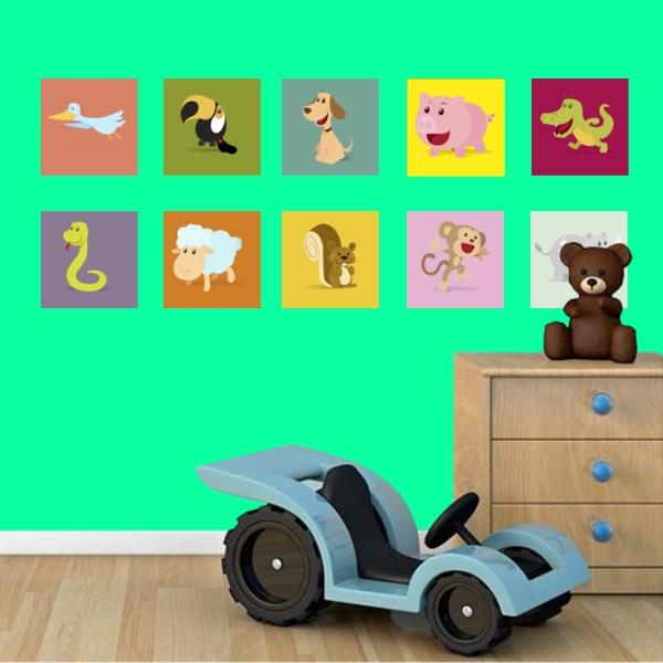 Adesivo Destacável Animais Infantil 02