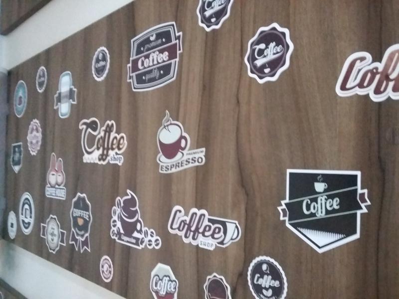 Adesivo Destacável Café Vintage