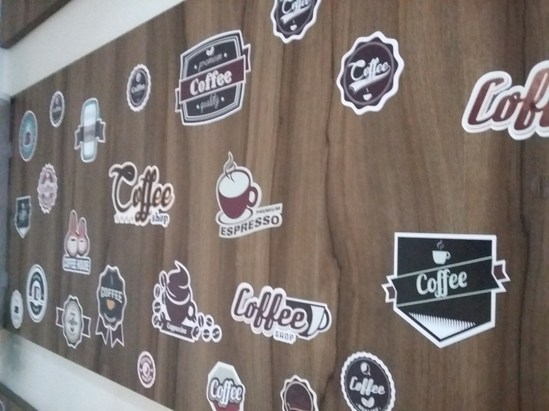 Adesivo Destacável Café Vintage  - TaColado