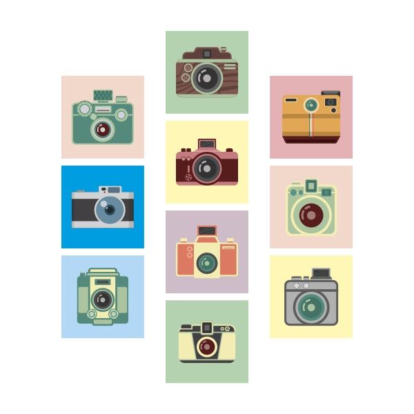 Adesivo Destacável Fotografia Vintage  - TaColado