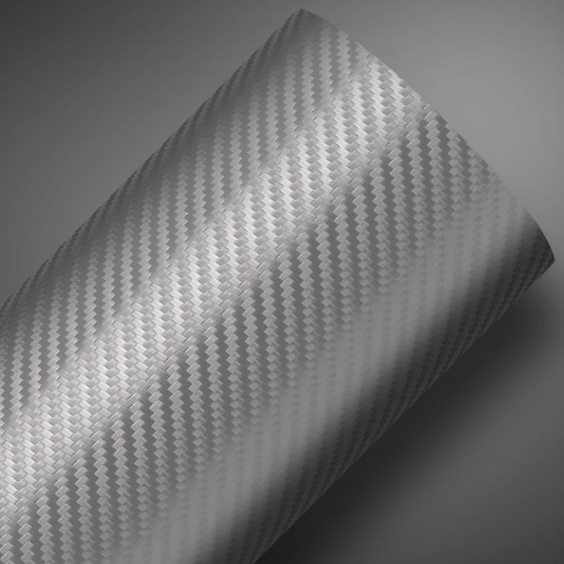 Adesivo Fibra de Carbono Prata  - TaColado