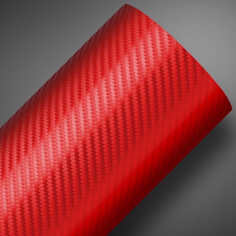 Adesivo Fibra de Carbono Vermelho  - TaColado