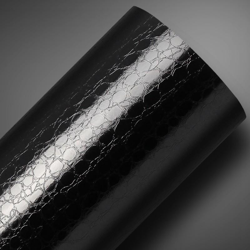 Adesivo Texturizado Couro Preto  - TaColado