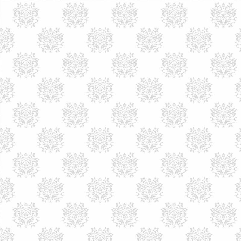 Papel de Parede Arabesco Dubai Branco  - TaColado
