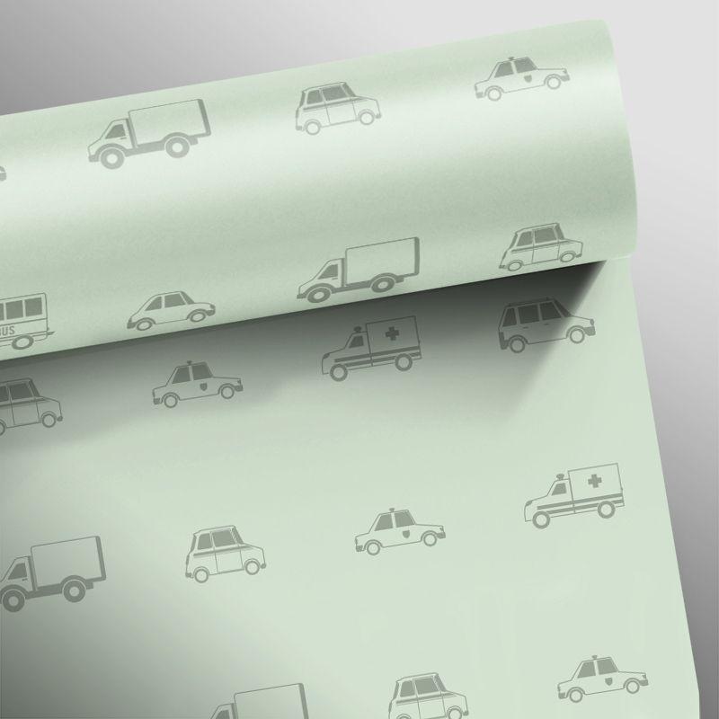 Papel de Parede Carros Verde Claro  - TaColado