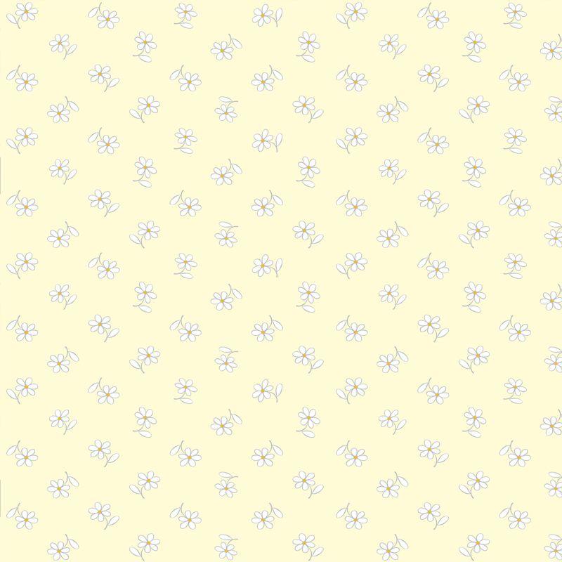Papel de Parede Floral Bem Me Quer Amarelo  - TaColado