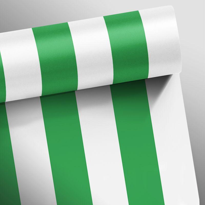 Papel de Parede Listras Fortes Verde Escuro  - TaColado