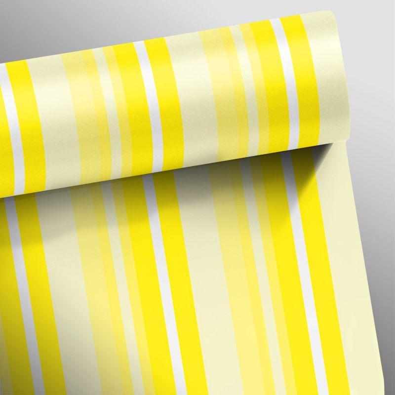 Papel de Parede Listras Rápidas Amarelo  - TaColado