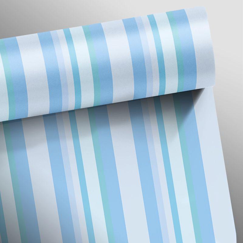 Papel de Parede Listras Rápidas Azul  - TaColado