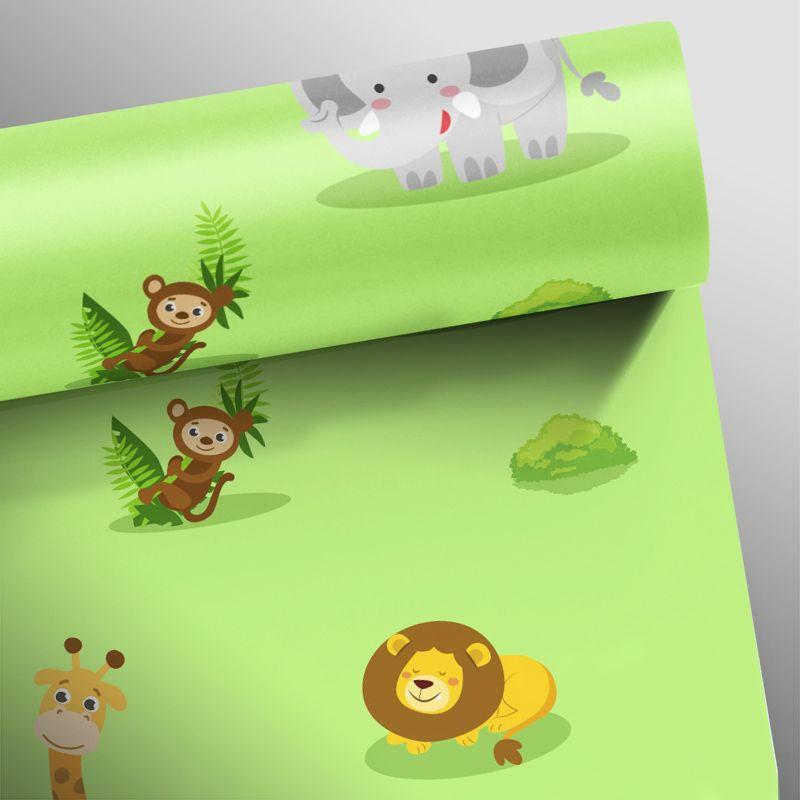 Papel de Parede Selva Verde Claro  - TaColado