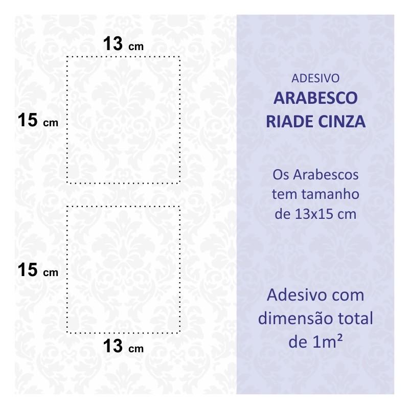 Papel Parede Arabesco Riade Cinza  - TaColado