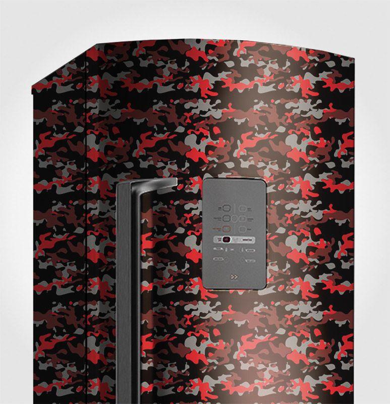 Papel de Parede Camuflado Vermelho 0,58X3M