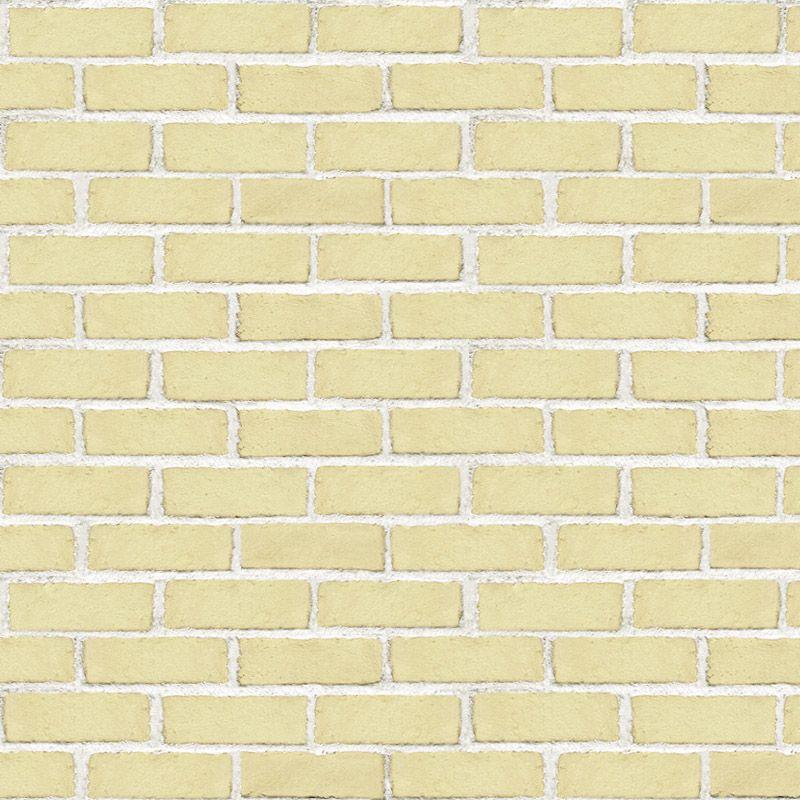 Papel de Parede Tijolo Rústico Amarelo  - TaColado