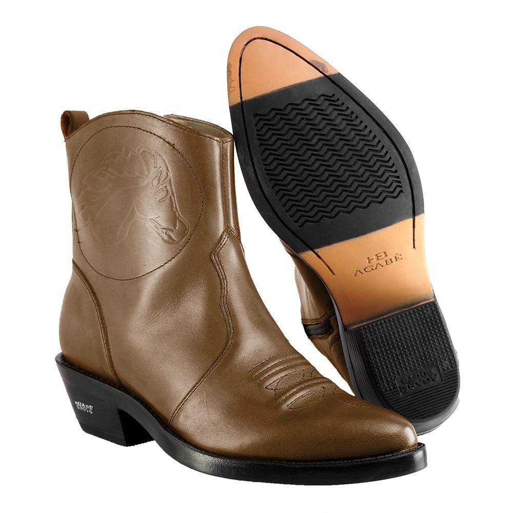 Bota Masculina Country Texana HB Agabe Boots 100.000 - Lt Marrom - Sola de Borracha