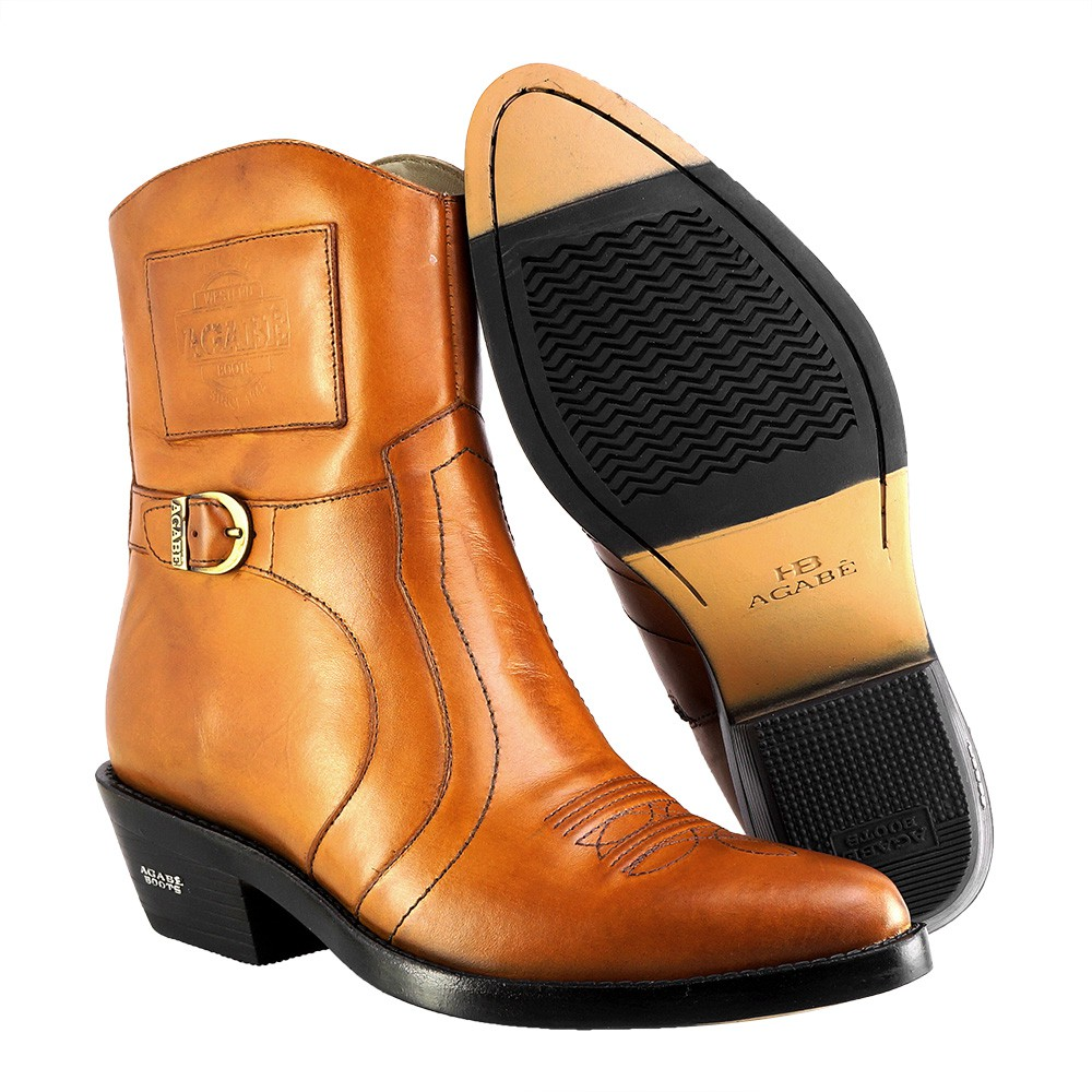 Bota Masculina Country Texana HB Agabe Boots 100.001 - Lt Havana - Sola de Borracha
