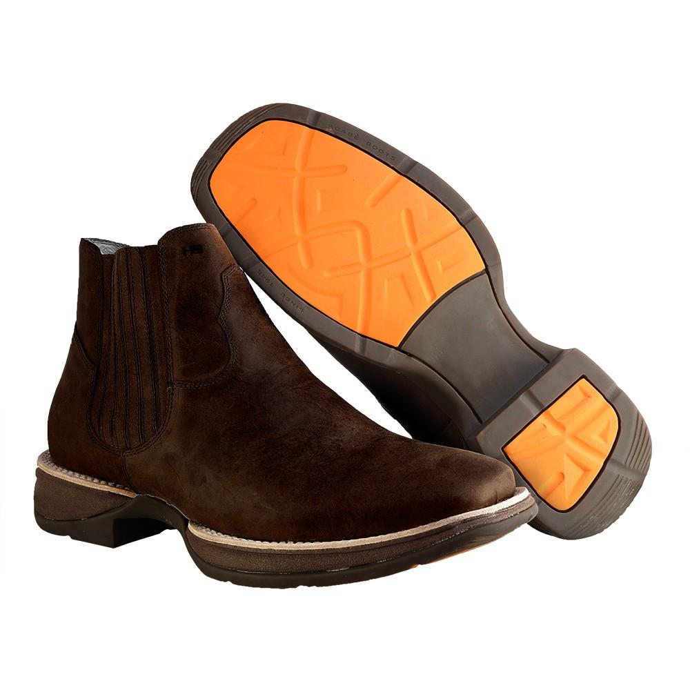 Bota Western Hb Agabe Boots 421.000 - Bt Café- Solado de Borracha + Cunho PVC