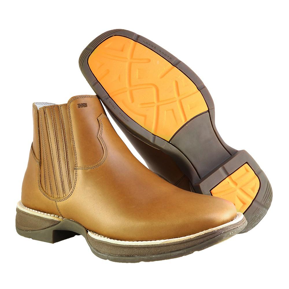 Bota Western Hb Agabe Boots 421.000 - Pu Havana - Solado de Borracha + Cunho PVC