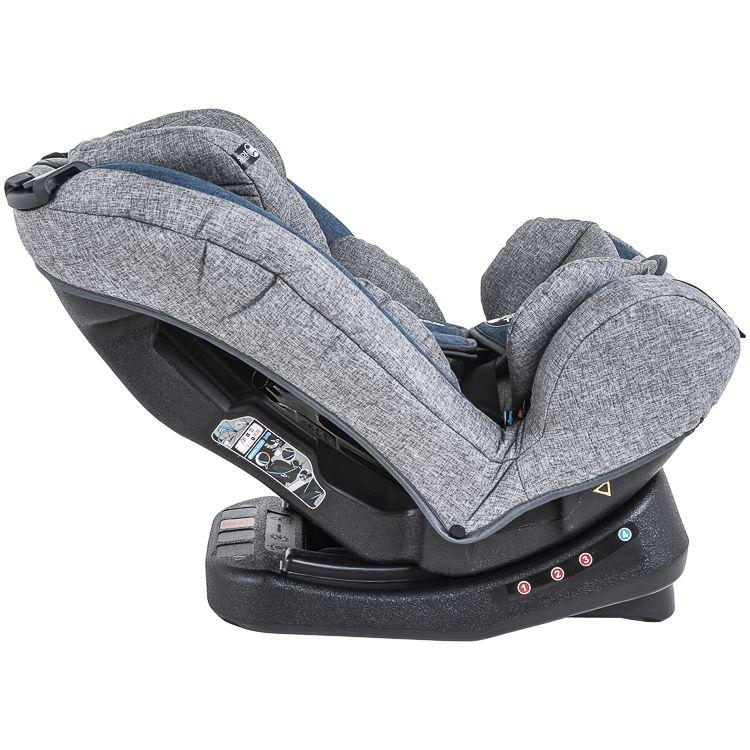Cadeira Auto Grow 0 À 36kg Inclinação Inmetro Kiddo Azul c/ Cinza