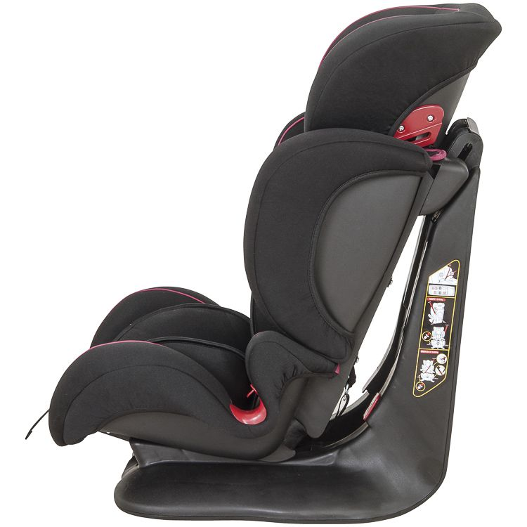 Cadeira de Auto Poltrona Pilot 9 À 36kg Inclinação Preto c/ Rosa Inmetro