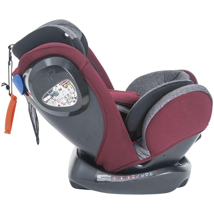 Cadeira de Auto Poltrona Stretch 0 À 36kg Inclinação Preto C/ Vinho Inmetro