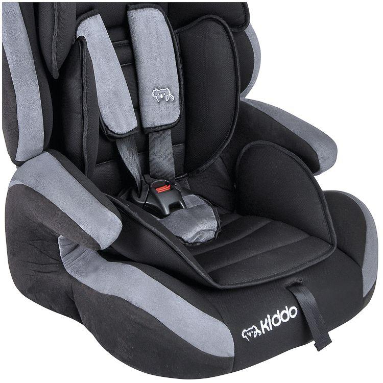 Cadeira para Auto Bebê Panda 9 a 36kg Preto c/ Cinza Kiddo