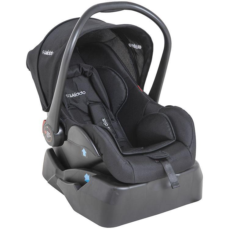 Carrinho Travel System Moisés Quantum + Bebê Conforto E Base Kiddo Cinza
