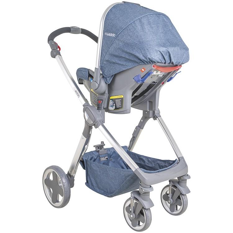 Carrinho Travel System Moon + Bebê Conforto Com Base Kiddo MT