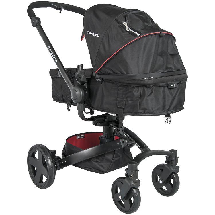 Carrinho De Bebê Travel System Spin Moisés Inmetro Kiddo Vermelho c/ Preto