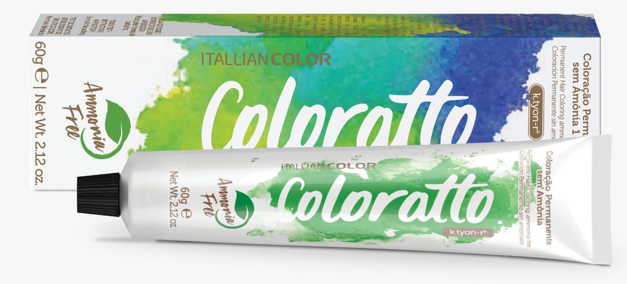 Coloração sem Amônia - Marrom Louro Escuro Cobre Cinza 6.41-  Coloratto 60g