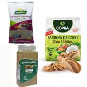 Kit 3 Farinhas para Dietas Low Carb Receitas e Dia a Dia
