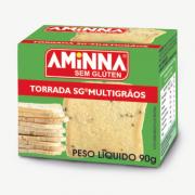 Torrada Sem Gluten Multigrãos 90g Aminna