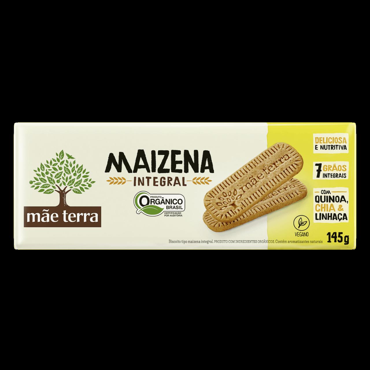 Biscoito Maizena Orgânico Integral Mãe Terra 145g