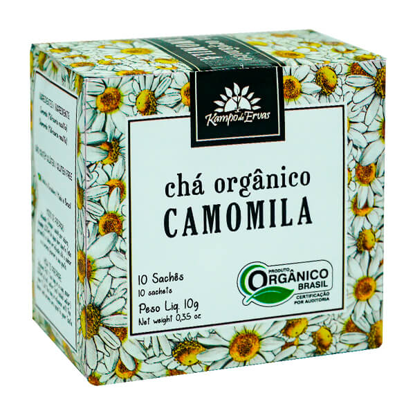 Chá de Camomila Orgânico 10 sachês Kampo de Ervas