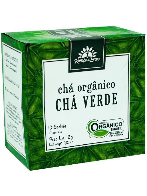 Chá Verde Orgânico 10 saches Kampo de Ervas